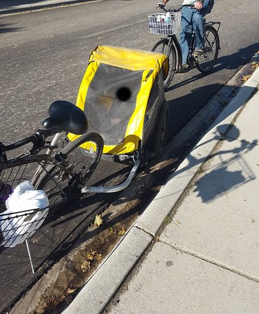 2 bikes and a trailer for our toddler