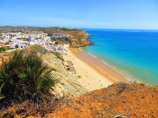Salema, Portugal: Looking down on Burgau.