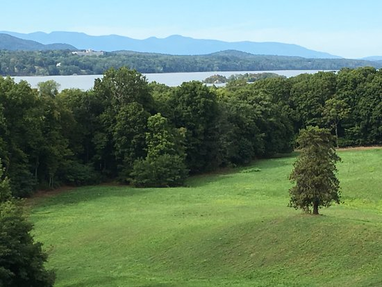 Hyde Park, NY: View of the Hudson River