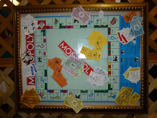 Marion, IL: Framed Monopoly Game for Sale At The Antique Mall