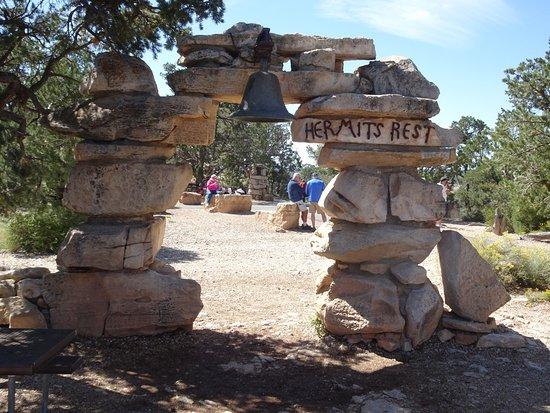 Tusayan, AZ: Hermit's Rest, point terminus du bus-navette.