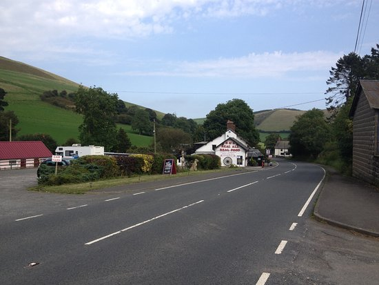 New Radnor, UK: View from road A44