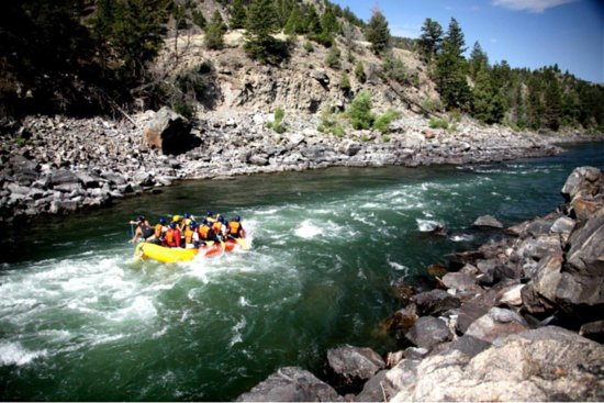 Gardiner, MT: Rafting the River