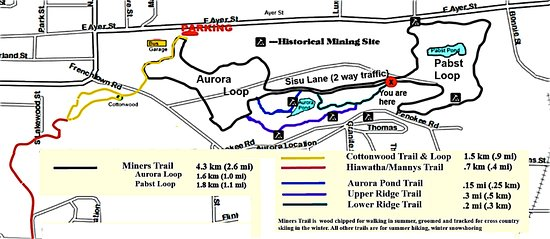 Trail Map Picture of Miners Memorial Heritage Park Ironwood
