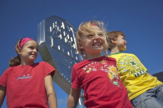Sudbury, Canada: Kids having a blast at Dynamic Earth, home of the Big Nickel.