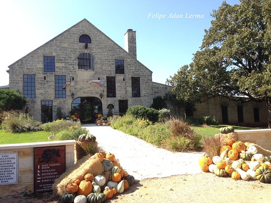 Stonewall, TX: One of two tasting and gift house at Becker Vineyards.