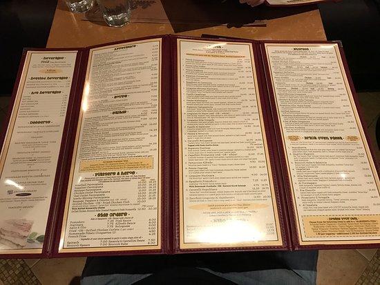 Melville, نيويورك: La Piazza partial menu