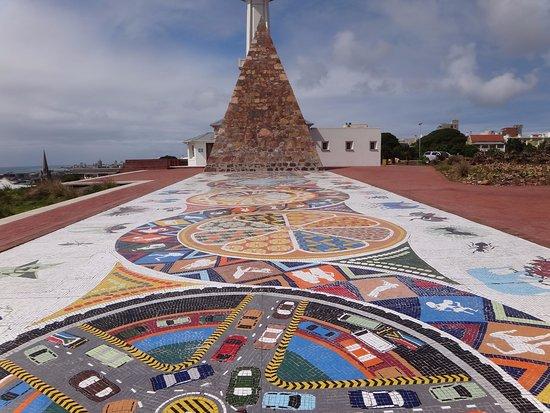 Port Elizabeth, Republika Południowej Afryki: Vista da pirâmide no The Donkin Reserve