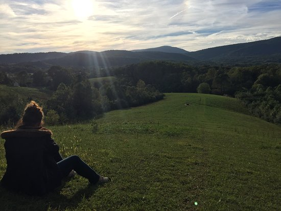 Fairhill Farm: Looking at Blue Ridge Mountains from the Farm