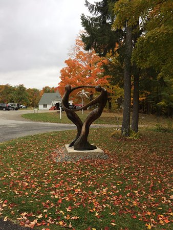 Manchester, VT: Nature dance. One of the sculptors in this magical place