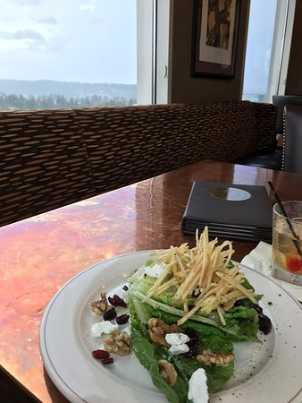 Great salad and view