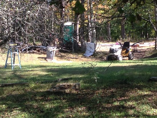 Springwood Cabins: View from front porch of Raccoon Ridge