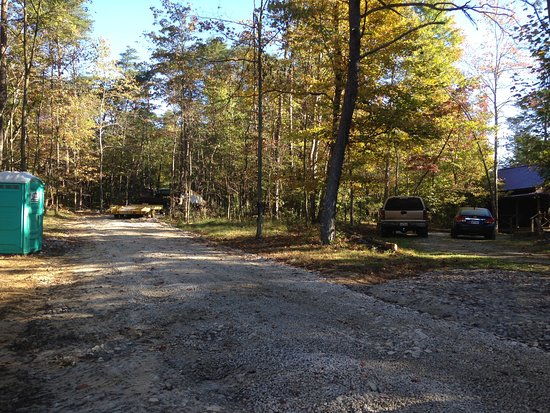 Springwood Cabins: View From Junction Of Left Road With Construction, Right  Road, And