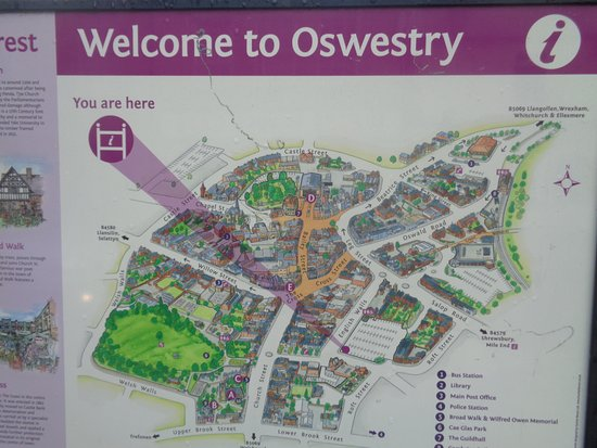 Oswestry, UK: Town Plan