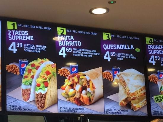 Best Food From Taco Bell Uk