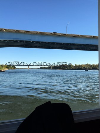 Lewis and Clark Riverboat: The view from downstairs