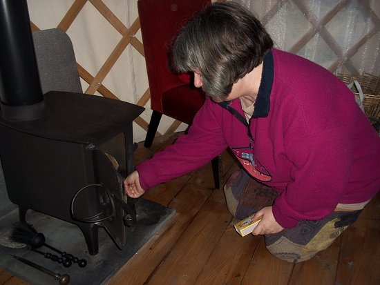 Carno, UK: This is me lighting the wood burner.