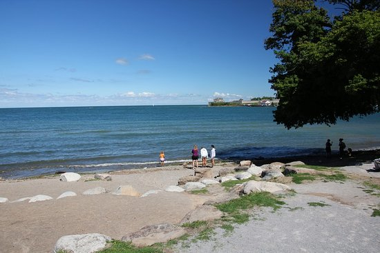 The Beach In Front Of Queens Royal Park Gazebo
