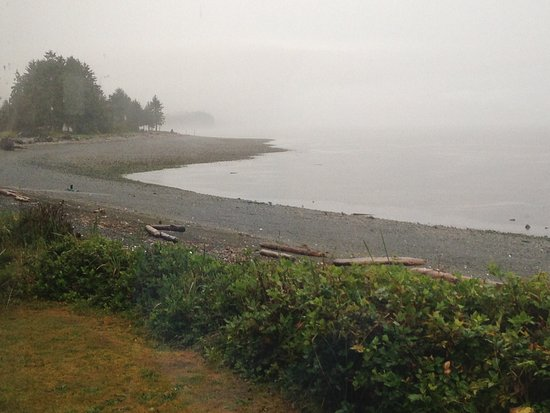 Port McNeill, Kanada: View from the restaurant - unfortunately raining.