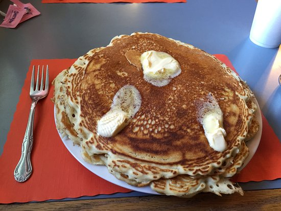 Meyersdale, PA: Two huge pancakes to start the Big Breakfast