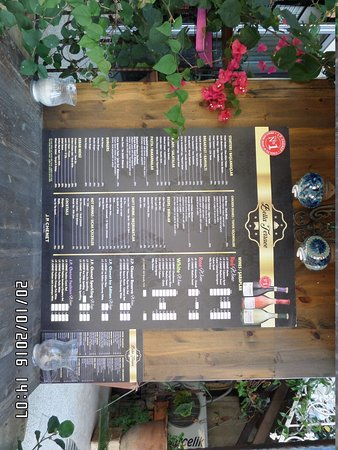 Abbey Bell Tower Restaurant : Restaurant entrance with menu card. Simple and easy to read.