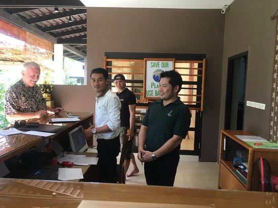 Champasak, Laos: The open air lobby