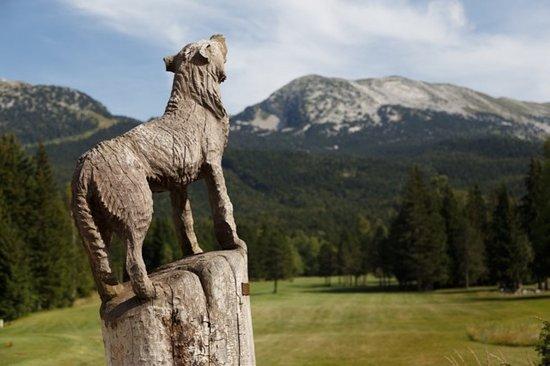 Correncon-en-Vercors, Frankrike: Attention au loup sur le trajet de montée