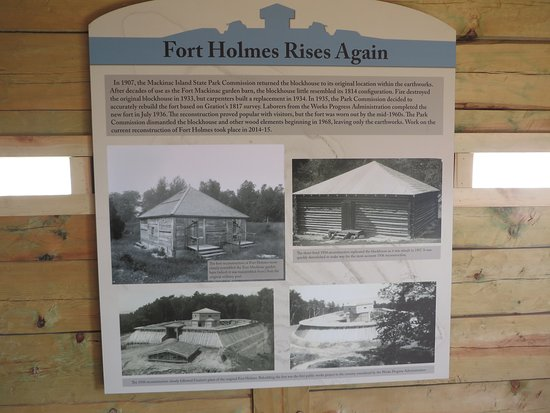 Fort Holmes : the reconstruction