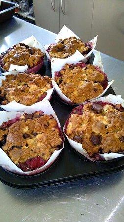 Motueka, Selandia Baru: muffins