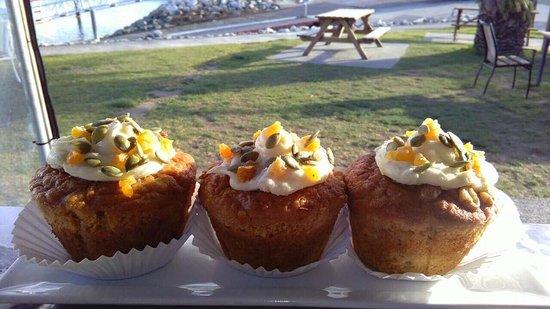 Motueka, Selandia Baru: carrot cake muffins!