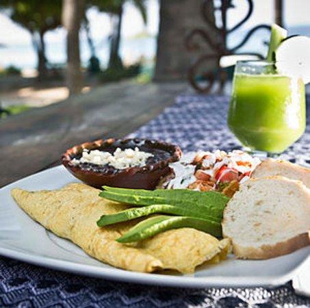 Troncones, Meksiko: Omelette Vegetariano!