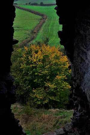 Clun, UK: View from the top inside the Castle