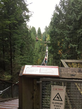 North Vancouver, Kanada: キャピラノのつり橋