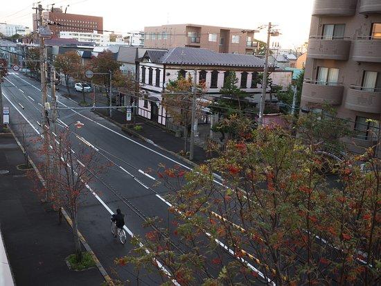 Hotel Chocolat Hakodate: Big red brick building is the municipal building.