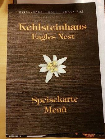 Bergrestaurant Kehlsteinhaus: Cover of the German/English menu