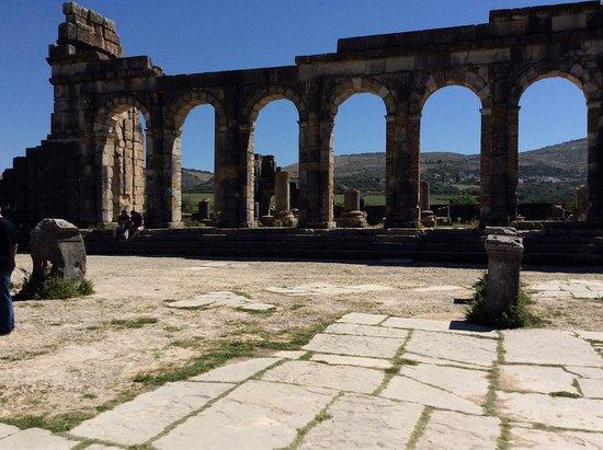 Meknes-Tafilalet Region, Maroko: Ancient roman ruins of Volubilis