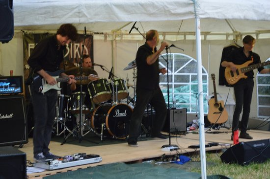 Firebird playing at our charity event during the F1 event at Silverstone
