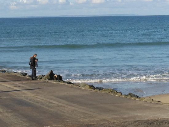 Basse-Normandie, France: View of Jesey from the local beach.