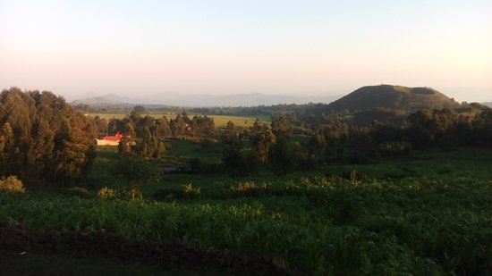 Mgahinga Gorilla National Park, Uganda: View of the King's Hill, a historical heritage at the next to Amajambere Iwacu Camp