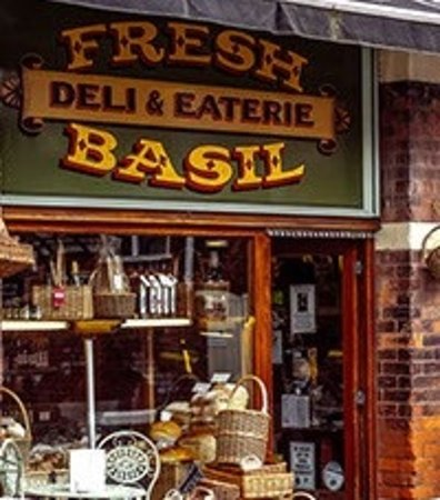 Fresh Basil - Deli & Eaterie: The froit door of the Fresh Basil