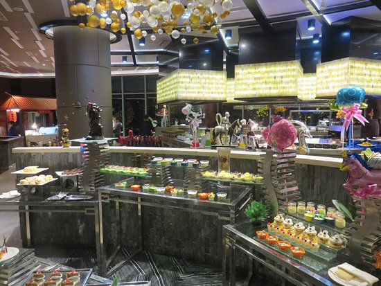 Haimen, China: A section of the super buffet.