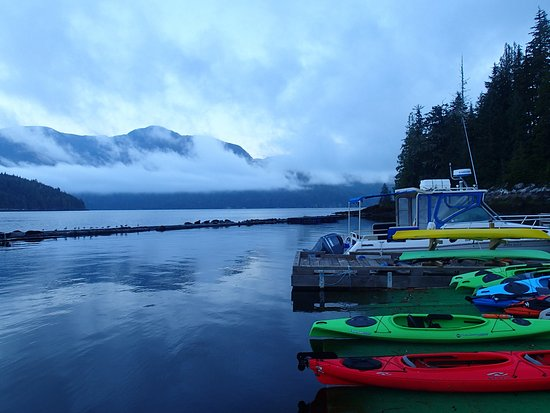 Knight Inlet Lodge: early morning kayak