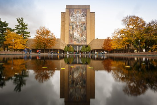Touch down Jesus over looking the Notre Dame Campus Picture of