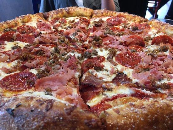 Mighty Meaty pizza - Picture of Mellow Mushroom McKinney - Tripadvisor