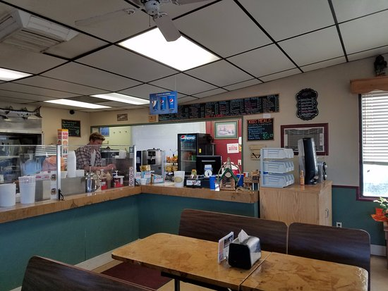 Meeker, CO: Menu board and counter area