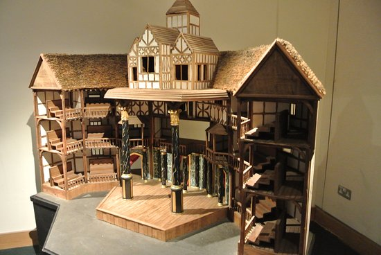 Shakespeares Globe Theatre Model Of