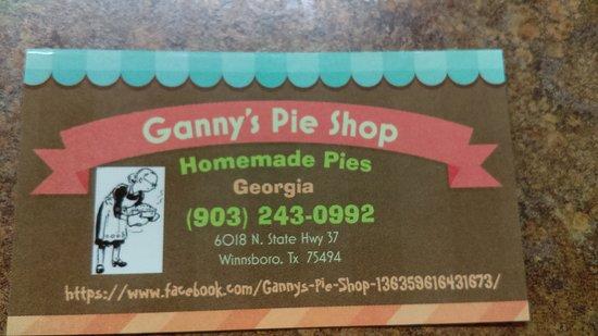 Winnsboro, TX: Ganny's Pie Shop