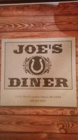 Lyndon Station, WI: Joe's Menu
