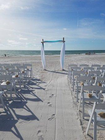 Beach Wedding Ceremony At Tortuga Resort