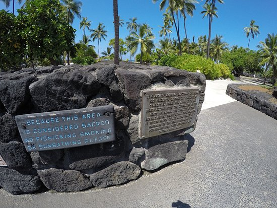Honaunau, Hawái: Sacred place - no swimming,smoking, sunbathing...